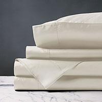 Deluca Sateen Sheet Set in Ivory