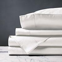 Deluca Sateen Sheet Set in White