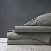 Shiloh Linen Sheet Set in Cement