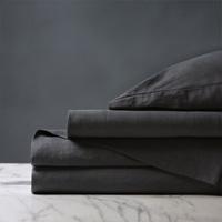 Shiloh Linen Sheet Set in Charcoal