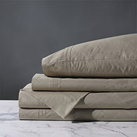 Vail Percale Sheet Set In Fawn