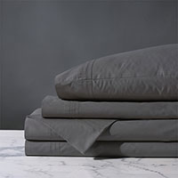 Vail Percale Sheet Set In Slate