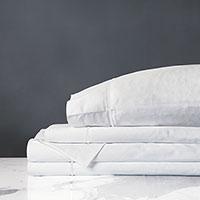 Linea Velvet Ribbon Sheet Set in White