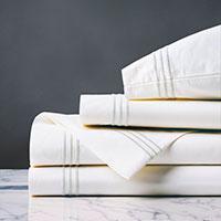 Tessa White/White Sheet Set