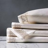 Juliet Lace Sheet Set in Ivory/Ivory