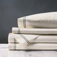 Enzo Ivory/Dove Sheet Set