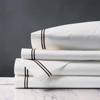 Enzo Satin Stitch Sheet Set in Black