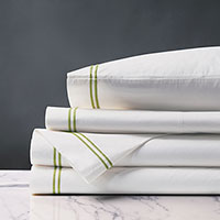 Enzo White/Lime Sheet Set