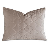 Viola Quilted Standard Sham in Fawn
