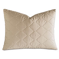 Viola Quilted Standard Sham in Sable
