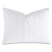 Viola Quilted Standard Sham in White