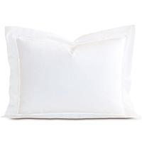 Linea Velvet Ribbon Standard Sham In White & White