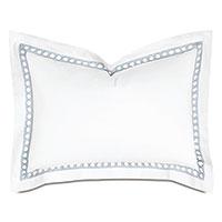 Celine Lace Standard Sham in Silver
