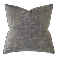 Rowley Woven Decorative Pillow In Charcoal