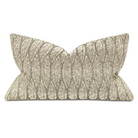 Hawley Leaf Embroidery Decorative Pillow