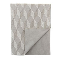 Stafford Diamond Knit Throw In Taupe