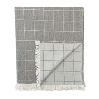Savile Windowpane Throw In Gray